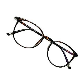 EyeYee Reading Glasses 3.0 Tortoise Round Glasses Eyeglasses Frames for Women Light Weight Glasses