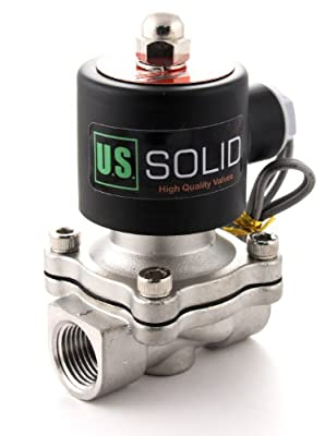 """1/2"""" Stainless Steel Electric Solenoid Valve 12V DC Normally Closed"""