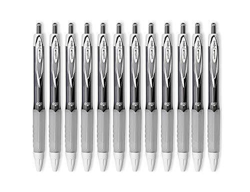 Price comparison product image Uni-ball Signo 207 Retractable Gel Pens,  Medium Point,  0.7mm,  Black Ink,  12 Count