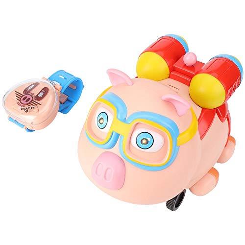 Jingyig Coche de Juguete, Mini humidificador de Spray de Coche de Cerdo de Dibujos Animados para niños, Reloj de Control Remoto, Regalos para niños, Juguete, humidificador de Spray