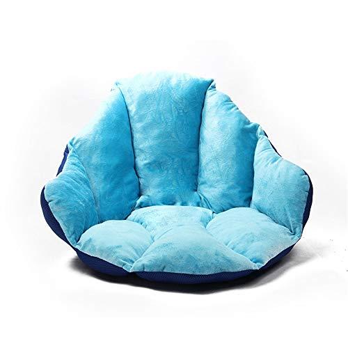 YLiansong-home Felpa Linda Super cómodo cojín de Asiento Suave Tumbona Cojín de ratón del sillón Cojines Cojín Espesar Bench Acampar Silla de la Cocina (Color : Blue, Size : Free Size)