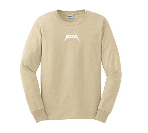 AA Apparel - The Glastonbury Tour Long Sleeve Kanye West Shirt(Large, Sand)