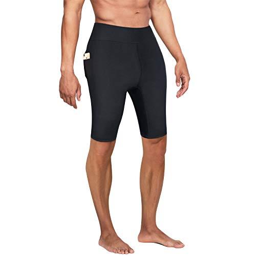 Bingrong Pantalones Cortos para Adelgazar Hombre Pantalón de Sudoración Adelgazar Pantalones de Neopreno para Ejercicio para Pérdida de Peso Deportivo (Negro, X-Large)