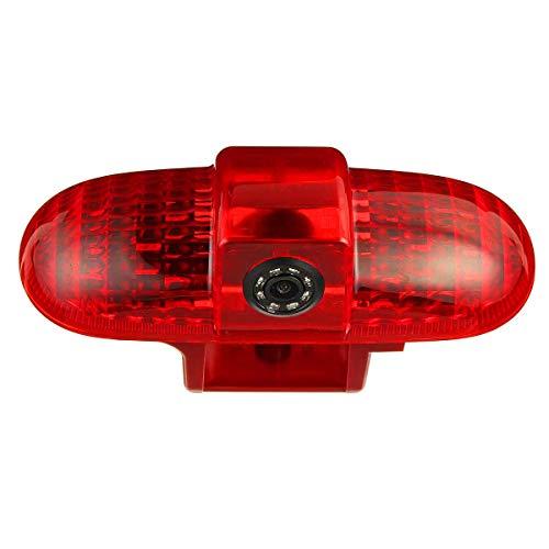 HD 720p Rückfahrkamera Transporter Kamera an 3. Bremsleuchte Dachkante Einparkhilfe (NTSC) für Transporter Renault Trafic, Opel Vivaro, FIAT Talento, Nissan Primastar (2001-2014)