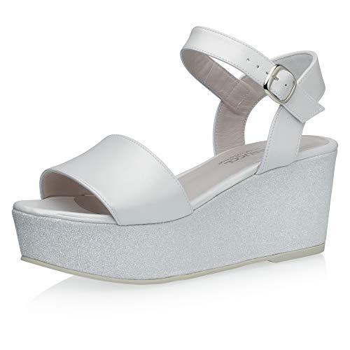 Fiarucci Zapatos de novia Resi para mujer con plataforma, sandalias de piel,...
