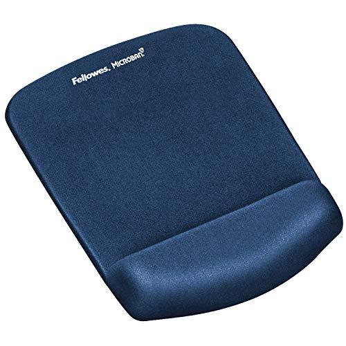 Fellowes ergonomisches Mauspad mit Handgelenkauflage PlushTouch™, super weiche Handballenauflage, Gel und Memoryfoam, blau