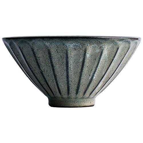 HUAHUA Bowls Cuenco de cerámica tazón tazón de cerámica verde retro Ensaladera tazón de sopa tazón de ramen recipiente grande Platos tazón de cereales tazón 18 * 9.5cm