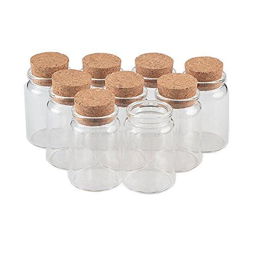 Botellas de vidrio con corcho botellas de manualidades botes Weding regalo 50ml 80ml 100ml 150ml recipientes vacíos de tarros botellas