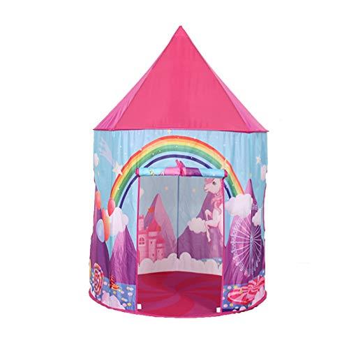 yaunli Niños juegan Tienda Niño bebé Juguetes casa portátil niños Tienda niños Jugar Carpas para niños Jugar Navidad cumpleaños Regalo Tienda portátil del Juego (Color : Pink, Size : One Size)