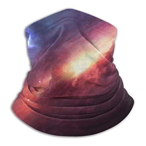 BaoBei-shop Galaxy Space Fleece Halswärmer Halsmanschette Wärmer Winddichtes Mundgesicht Ma-sk Magischer Schal Bandana Sturmhaube für Erwachsene Kinder Schwarz-6N