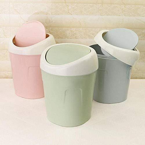weichuang Mini papelera de escritorio para el hogar, cesta de basura de mesa, cubo de basura para el hogar, oficina, mesa, papelera, pequeña caja de pañuelos (color: azul)