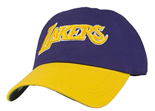 Mitchell & Ness Los Angeles Lakers Wool 2 Tone Strapback Dad Hat