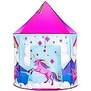 USA Toyz Unicorn Kids Play Tents for Girls and Boys - Unicorn Playhouse Pop Up Princess Tent w/ Unicorn Headband and Tent Carry Tote