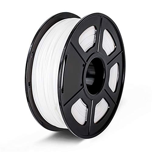 3d Printer Filament, 1.75mm 1KG with Spool PLA 3D Filament Rainbow Printing Material (Color : White)