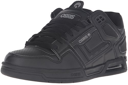 Osiris Men's Peril Skateboarding Shoe, Black/Grey, 6 M US