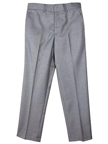 Spring Notion Boys' Flat Front Dress Pants 18M Grey