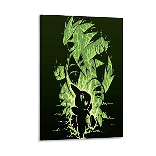 DRAGON VINES Póster de Pokémon Pocket Monsters Larvitar y Tyranitar Anime Cool Poster Art Print Canvas Art Painting Oficina y Renovación del hogar 30 x 45 cm