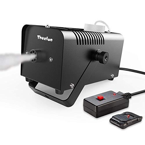 Nebelmaschine, Theefun Mini Tragbare Rauchmaschine mit Drahtlose Fernbedienung Bühnentechnik für Feiertage, Parties, Hochzeiten, Schnelle Generierung von Nebel, mit Stromsicherungschutz