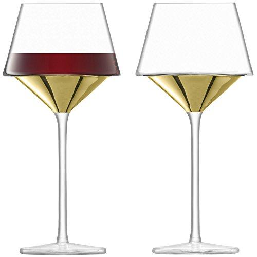 L.S.A. Wijnglas, Glas, Goud, 445ml