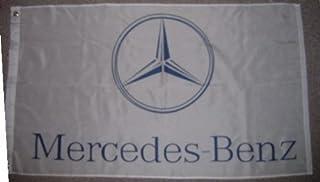 Mercedes Benz flag - 3x5 foot - - - White Car Flag