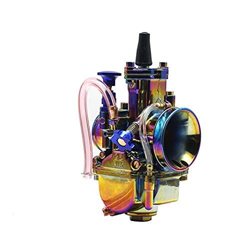 Colorido para carburador P&WK Motocicleta 4T Motor Scooters Dirt Bike 21 24 26 28 30 32 34mm con Power Jet R&acing Moto Carburador (Color : 26mm)