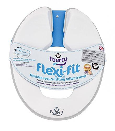 Pourty Flexi-Fit Reducteur de toilette abattant WC pingouin (Blanc/Gris)