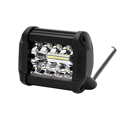 1 pcs Faros de Trabajo LED Tractor de 200W Square 9-32V 24000lm 6500K 7'' Focos de Coche Faros impermeables IP68 Delanteros para Camión Tractor SUV Barco (1 pcs, 4 pulgada)