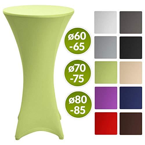Beautissu Stretch Stehtisch Husse Stella für Bistrotisch Ø 80-85 cm Elegante Stretch-Husse Hell-Grün als Tisch-Überzug in div. Farben & Größen
