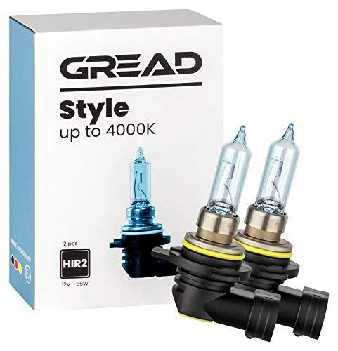 Gread - 2x HIR2 Halogen Lampen - stylisches kaltweiss - Xenon Look - Style