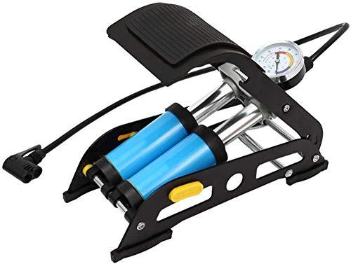 Inflador de tubería de Bicicleta, Bomba de pie de Tubo de Acero de Doble Cilindro, para MTB Motocicleta Bola de Aire Colchón de Aire Inflables