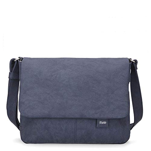zwei Mademoiselle MT13 Messenger Bag 33 cm Nubuk-Blue