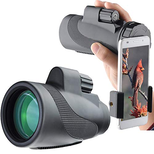 Find Bargain XYZZ 12X50 High Power Prism Monocular and Quick Smartphone Holder, Waterproof and Anti-...