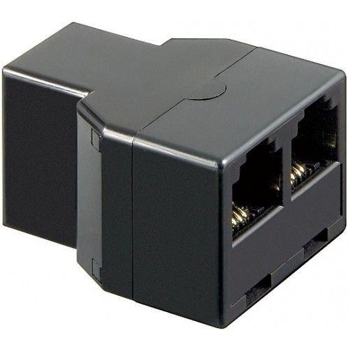 CABLEPELADO Divisor RJ11-2X RJ11 Hembra Negro