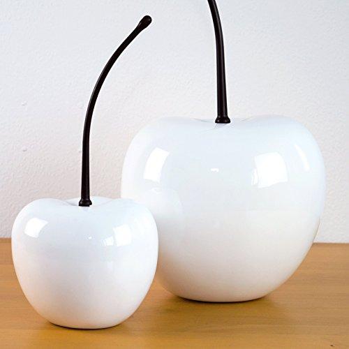 Elegant Einrichten Deko Obst Kirsche weiß-26x22x50cm
