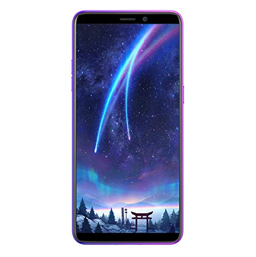 Ulefone P6000 Plus (2019) 6350mAh Akku 4G Smartphone ohne Vertrag 6,1 Zoll Android 9.0 3GB RAM + 32GB ROM, OTG, 13MP+5MP Dual Kamera Dual SIM Handy, Face ID Fingerabdruck - Twilight