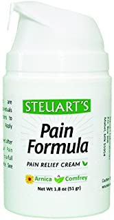 Steuart's Pain Relief Cream (1.8 oz)   Joint & Muscle Pain Management   Arthritis Pain   Back Pain   All Natural Pain Relieving Treatment   Free Shipping