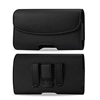 AGOZ for Huawei Ascend XT H1611 Premium Leather Pouch Case Holster with Belt Clip & Belt Loops