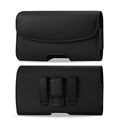 Agoz Carry case For Kyocera DuraForce Ultra 5G UW E7110, Kyocera DuraForce XD E6790,Premium Leather AGOZ Pouch Case Holster with Belt Clip & Belt Loops (NOT for DuraForce E6560 E6762 or DuraForce PRO)