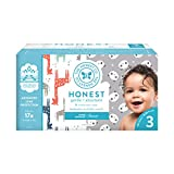 The Honest Company Super Club Box Diapers with TrueAbsorb Technology, Pandas & Safari, Size 3, 136 Count