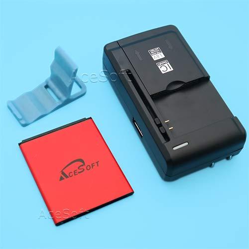 Long Lasting 2700mAh Rechargeable Li_ion Battery Universal Travel Dock USB/AC Charger Folding Bracket for Samsung Galaxy Exhibit SGH-T599N MetroPCS