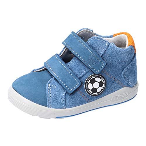 RICOSTA Kinder Low-Top Sneaker LINU von Pepino, Weite: Mittel (WMS), toben Spielen verspielt detailreich Freizeit Kinder,Petrol,20 EU / 4 Child UK