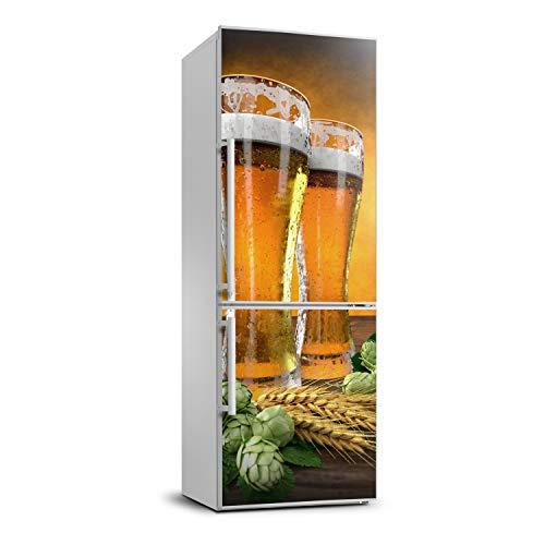 Tulup Adesivo Frigo 60x180cm Stickers Copri Frigorifero Porta Cucina - Due Bicchieri Di Birra