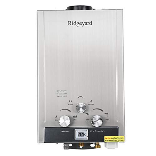 Iglobalbuy 8L Erdgas Tankless Instant Warmwasserbereiter Kessel mit Duschkopf