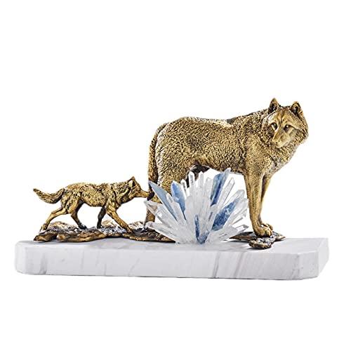Ljus lyxiga smycken Alla koppar djur Wolf Craft Creative Book House Cabinet dotterbolag skrivbord prydnad-Kopparvarg