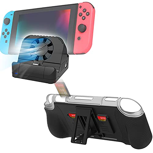 Switch Dock for Nintendo with 4K HDMI USB 3.0 Port and Cooling Fan 2021 + Protective Case for Nintendo Switch Lite