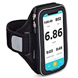 Sporteer Velocity V6 Running Armband - Compatible with iPhone 11, XR, 11 Pro, Xs, 8, 7, Galaxy Note 10, Galaxy S20, S10, S10e, S9, S8, Pixel 4, 3a, LG, Moto and More - Fits Most Cases (Medium/Large)