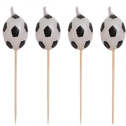 Creative Converting 4 Count Sports Fanatic Soccer Shaped Pick Candles -