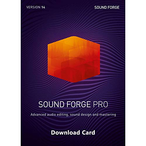 MAGIX Sound Forge Pro 14 (Download Card) – Audio Recording, Editing and Mastering Software