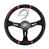 Volanti Sportivi per Auto,Volante da Corsa Universale da 35 CM / 14 Pollici