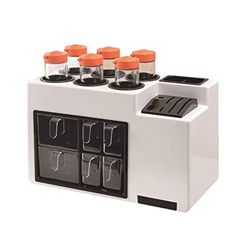 N / B Caja de Almacenamiento de Cocina de condimentos para el hogar, multifunción, con 6 titulares de Herramientas de cajón, mangueras de Sabor